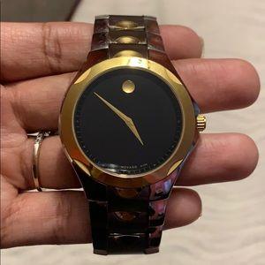 Men's Movado Watch Swiss Made 81 G1 1853 Sapphire